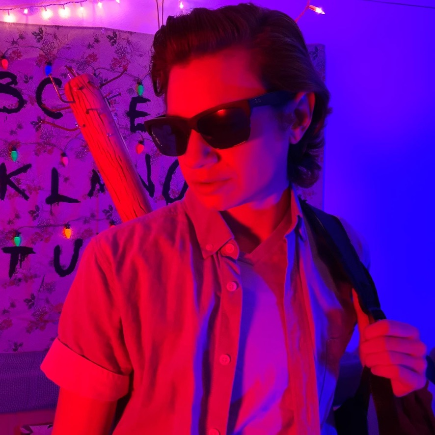 Jack Grimm as Steven Harrington, Stranger Things Cosplay